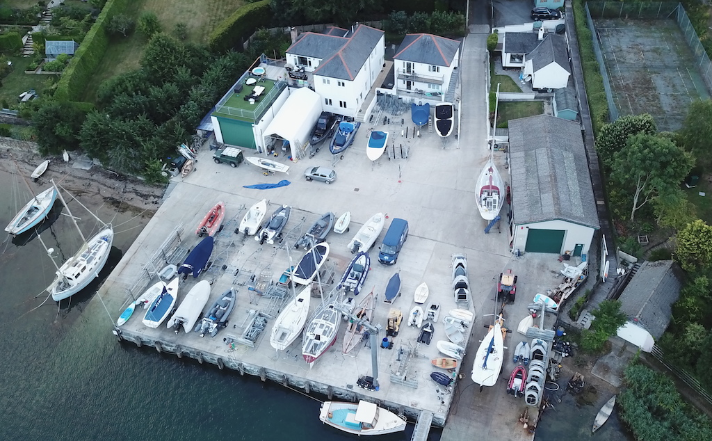 Freshwater Boatyard from above